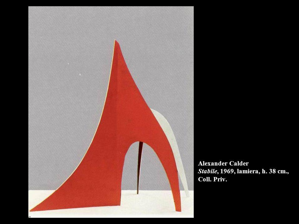 Alexander Calder Stabile, 1969, lamiera, h. 38 cm., Coll. Priv.