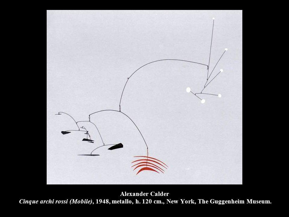 Alexander Calder Cinque archi rossi (Mobile), 1948, metallo, h.