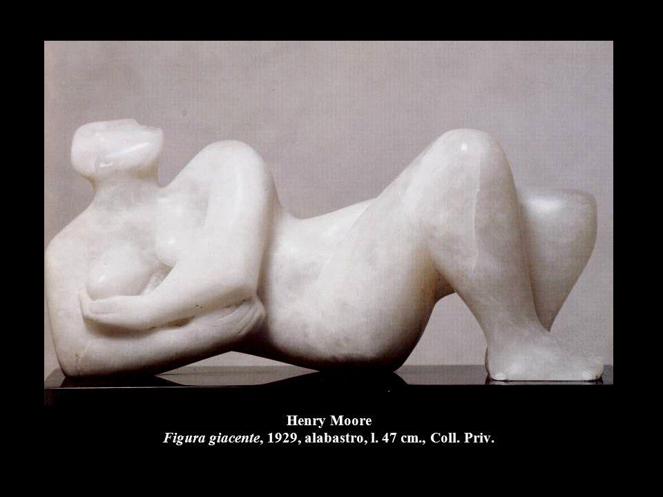 Henry Moore Figura distesa, 1929, pietra, l. 84 cm., Leeds, City Art Gallery.