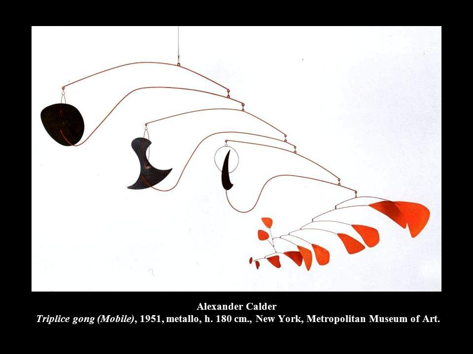 Alexander Calder Triplice gong (Mobile), 1951, metallo, h.