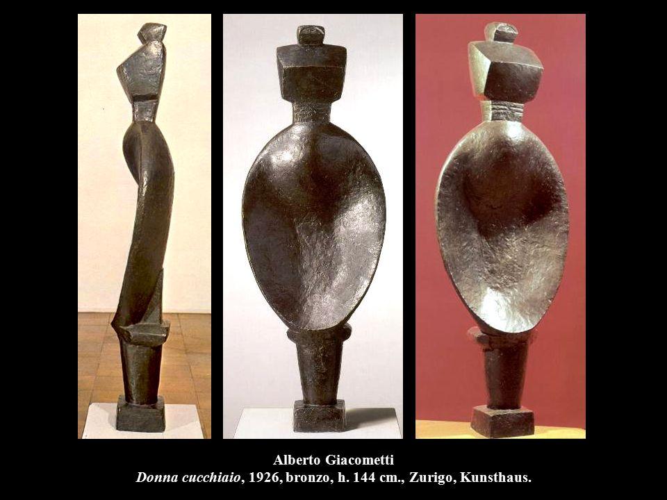 Alberto Giacometti Donna cucchiaio, 1926, bronzo, h. 144 cm., Zurigo, Kunsthaus.