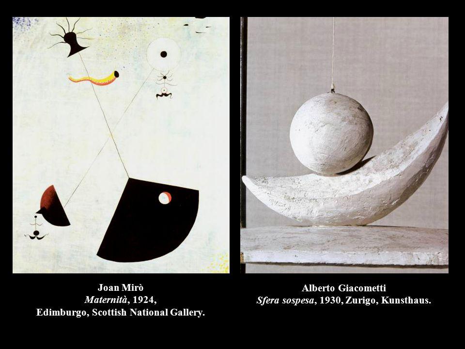 Alberto Giacometti Sfera sospesa, 1930, Zurigo, Kunsthaus.