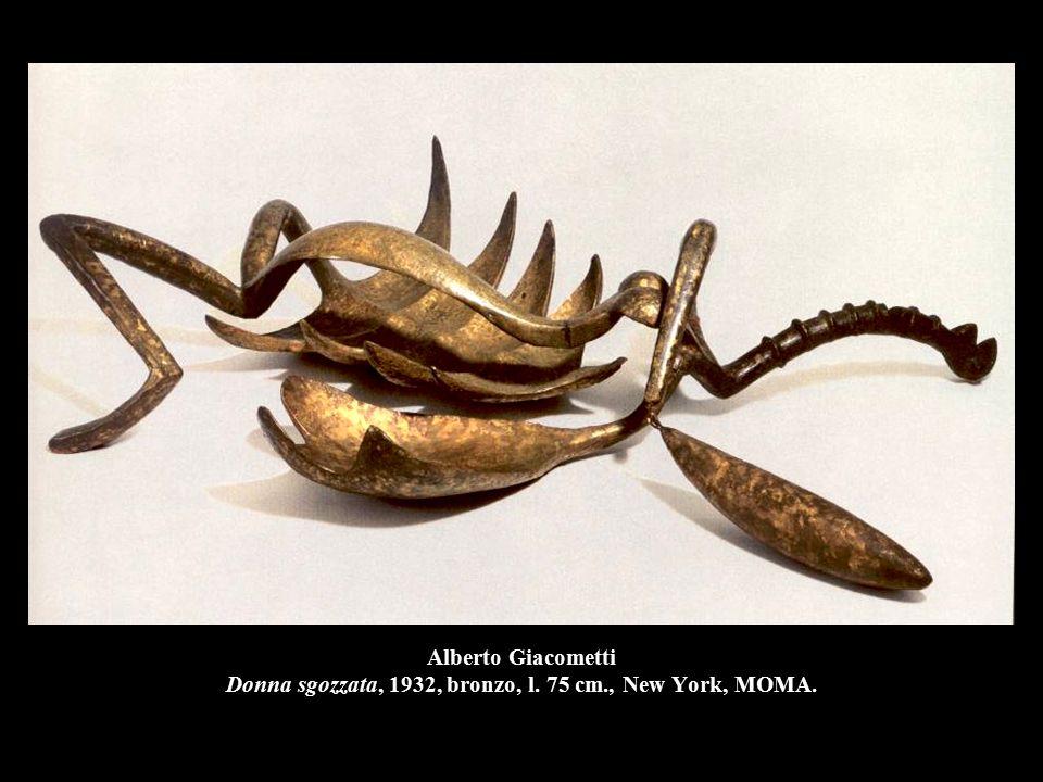 Alberto Giacometti Donna sgozzata, 1932, bronzo, l. 75 cm., New York, MOMA.