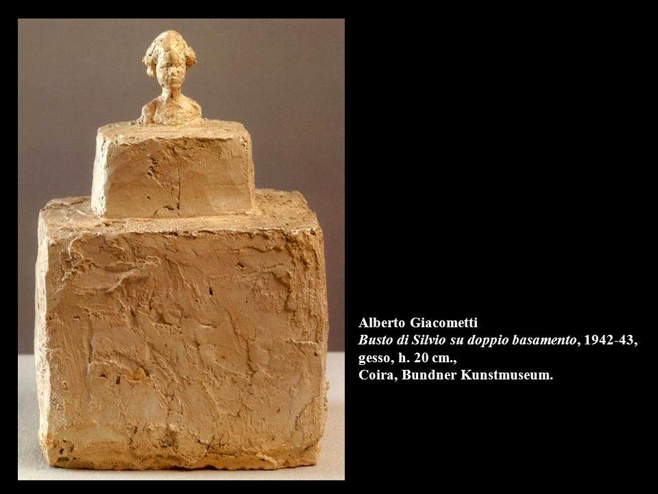 Alberto Giacometti Busto di Silvio su doppio basamento, 1942-43, gesso, h.