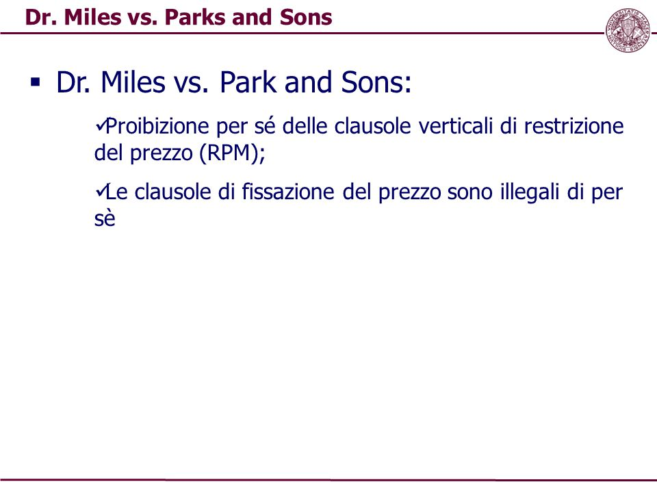 Dr.Miles vs. Parks and Sons  Dr. Miles vs.
