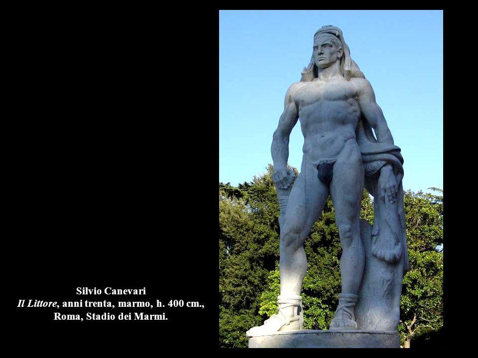 Silvio Canevari Il Littore, anni trenta, marmo, h. 400 cm., Roma, Stadio dei Marmi.