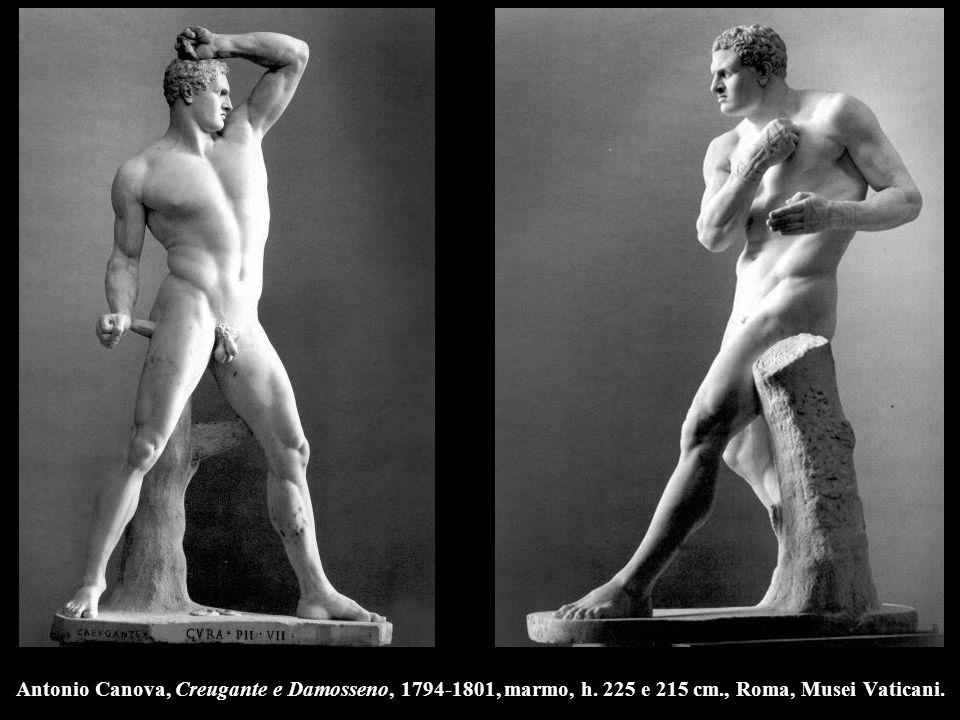 Antonio Canova, Creugante e Damosseno, 1794-1801, marmo, h. 225 e 215 cm., Roma, Musei Vaticani.
