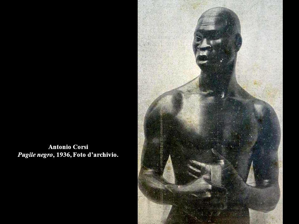 Antonio Corsi Pugile negro, 1936, Foto d'archivio.