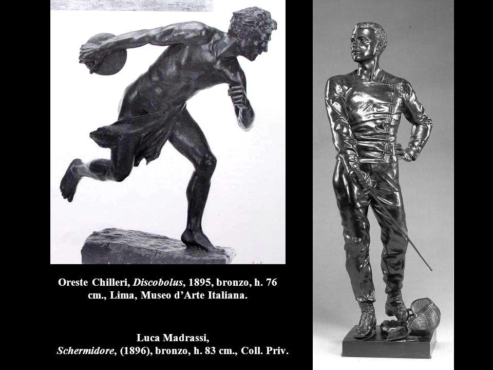 Luca Madrassi, Schermidore, (1896), bronzo, h.83 cm., Coll.