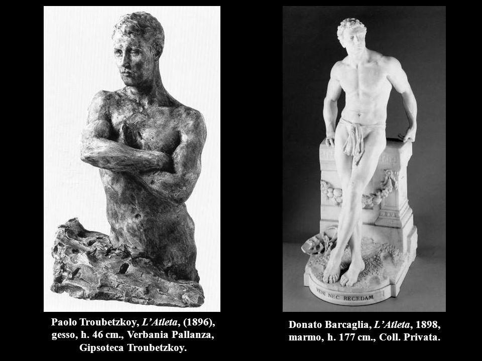 Donato Barcaglia, L'Atleta, 1898, marmo, h.177 cm., Coll.