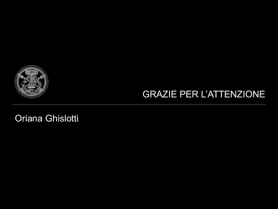 GRAZIE PER L'ATTENZIONE Oriana Ghislotti