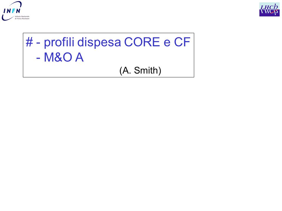 # - profili dispesa CORE e CF - M&O A (A. Smith)