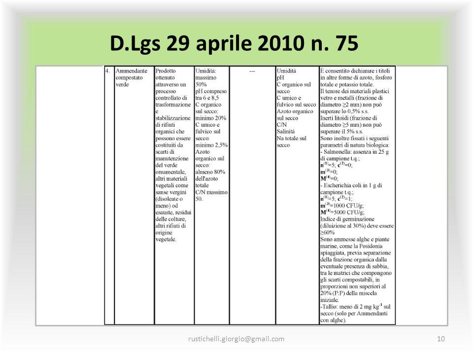 D.Lgs 29 aprile 2010 n. 75 rustichelli.giorgio@gmail.com10