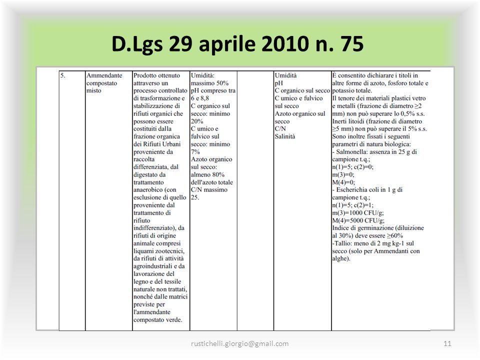 D.Lgs 29 aprile 2010 n. 75 rustichelli.giorgio@gmail.com11
