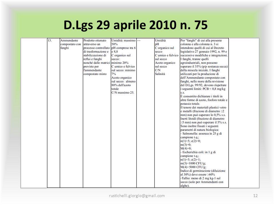D.Lgs 29 aprile 2010 n. 75 rustichelli.giorgio@gmail.com12