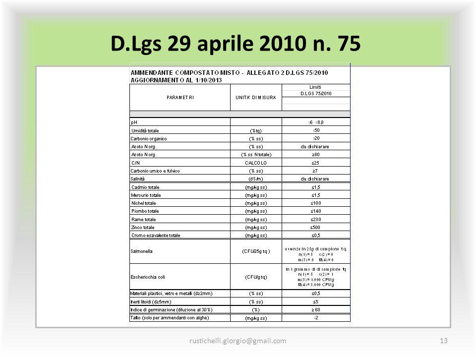 D.Lgs 29 aprile 2010 n. 75 rustichelli.giorgio@gmail.com13