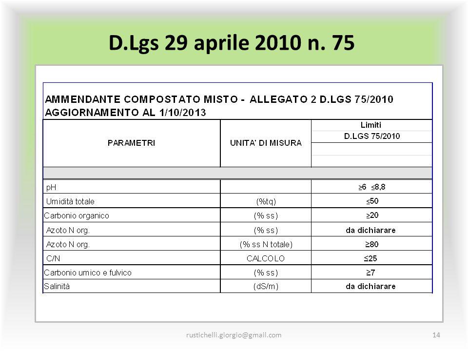 D.Lgs 29 aprile 2010 n. 75 rustichelli.giorgio@gmail.com14