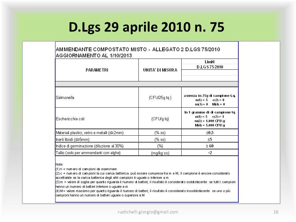 D.Lgs 29 aprile 2010 n. 75 rustichelli.giorgio@gmail.com16