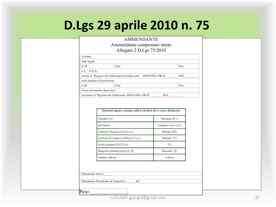 D.Lgs 29 aprile 2010 n. 75 rustichelli.giorgio@gmail.com17
