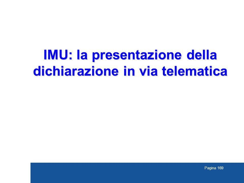 Pagina 169 IMU: la presentazione della dichiarazione in via telematica