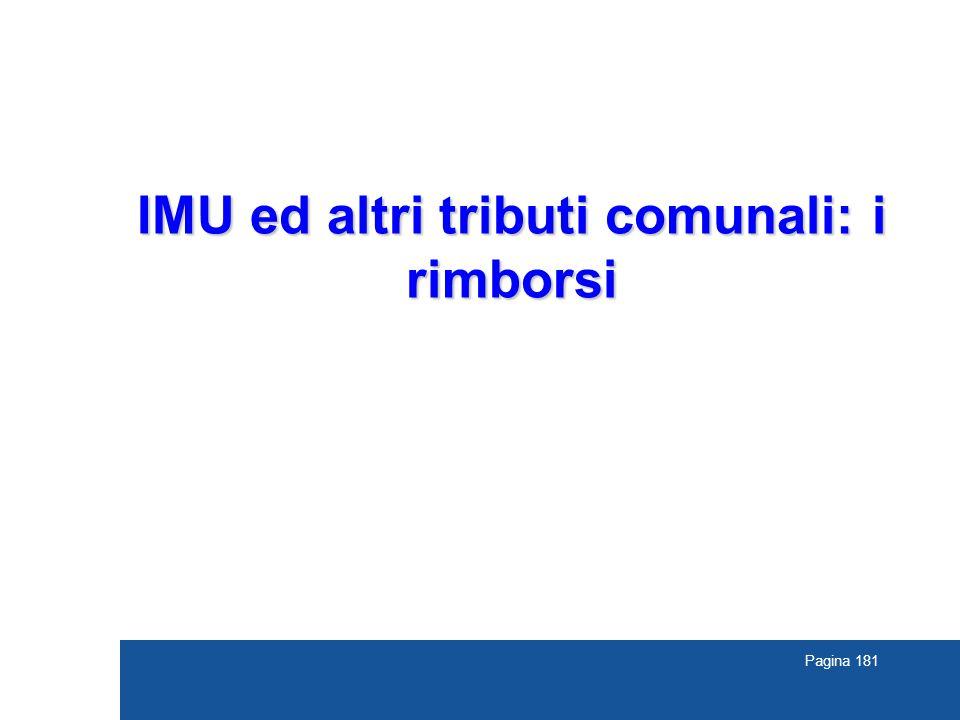 Pagina 181 IMU ed altri tributi comunali: i rimborsi