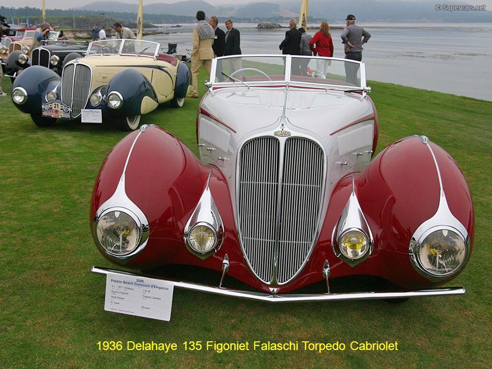 1936 Delahaye 135 Figoniet Falaschi Torpedo Cabriolet