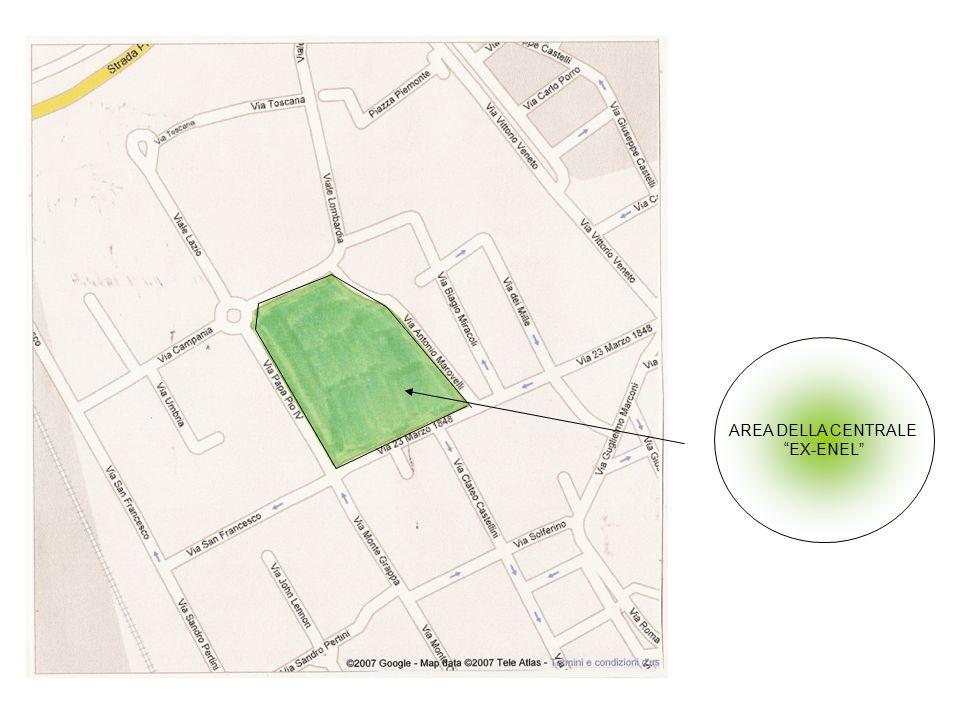 L'area della centrale ex Enel ,dopo essere stata dismessa, può essere riutilizzata, sostituendola con una struttura non ancora esistente in questo paese.