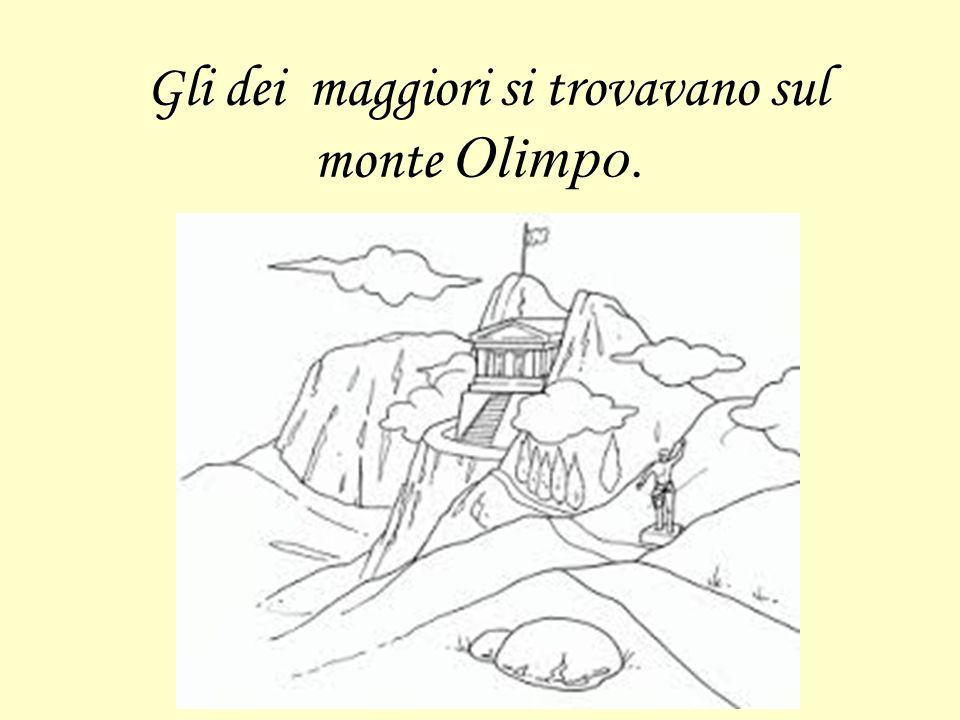 Gli dei maggiori si trovavano sul monte Olimpo.