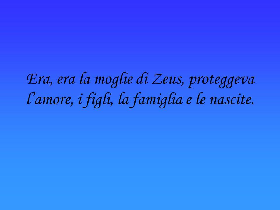Zeus, era il padre di tutti gli dei, era dio il del cielo e dei fenomeni naturali, dominava il mondo.