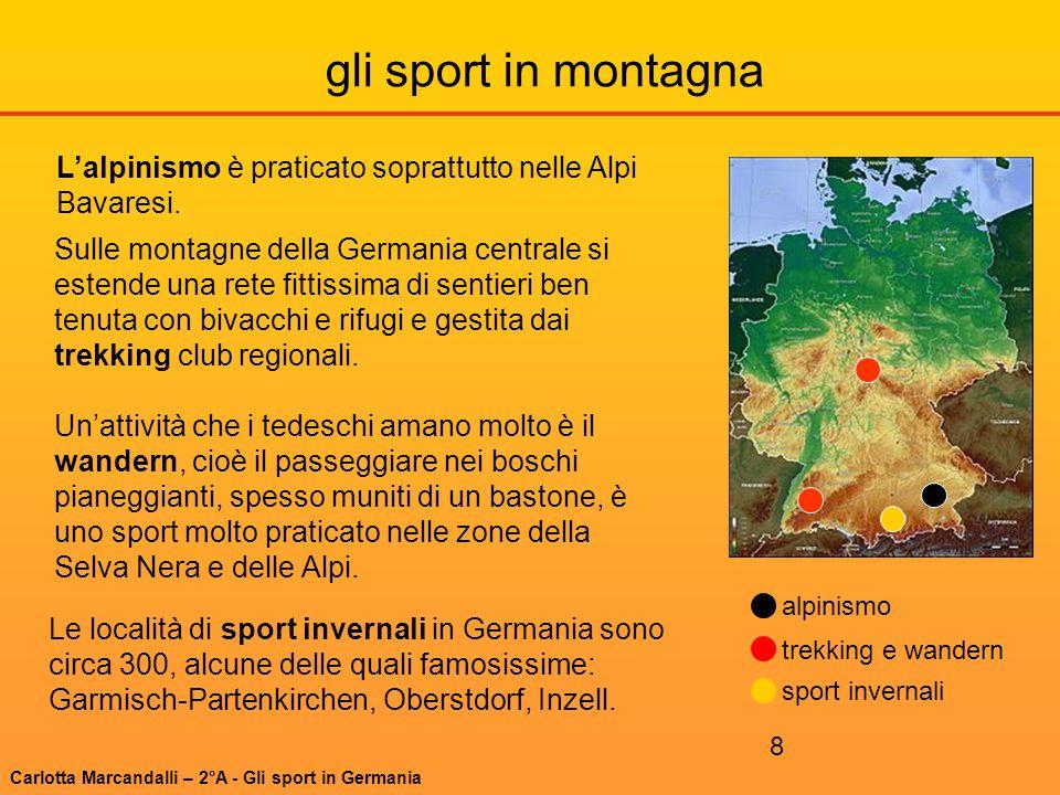 8 gli sport in montagna trekking e wandern sport invernali alpinismo Le località di sport invernali in Germania sono circa 300, alcune delle quali fam