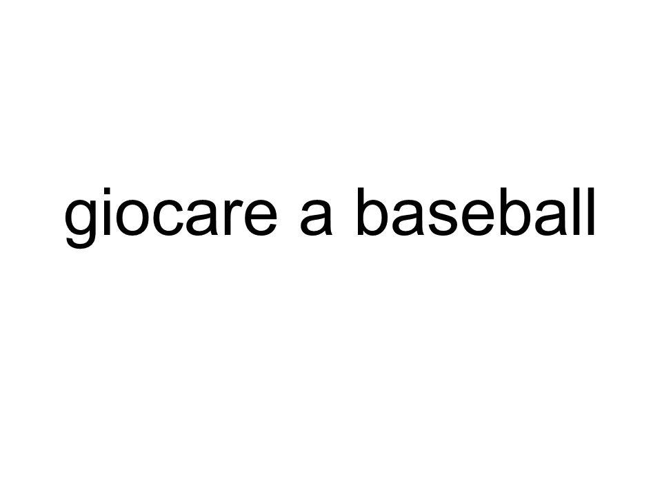 giocare a baseball