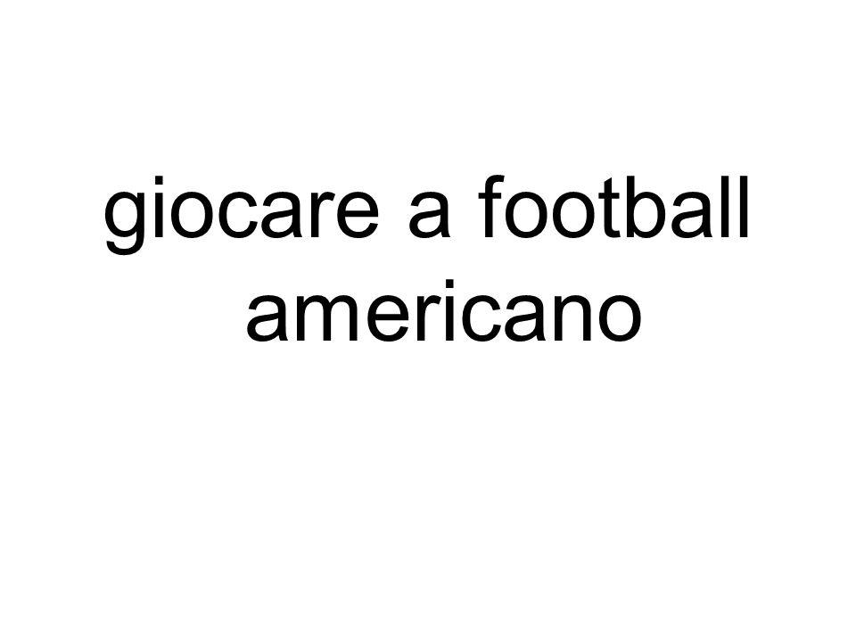 giocare a football americano