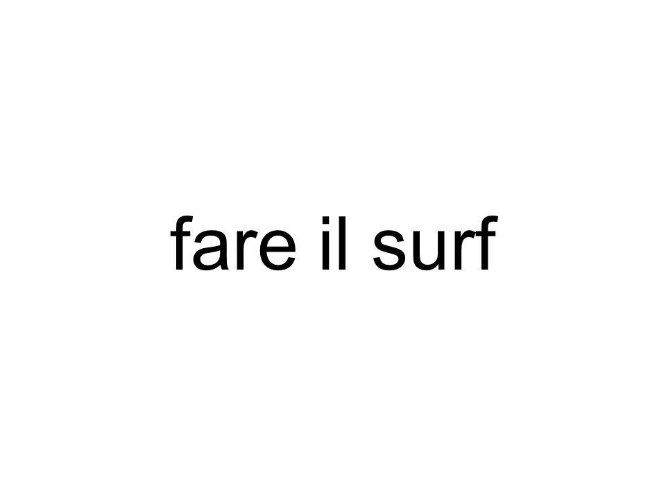 fare il surf
