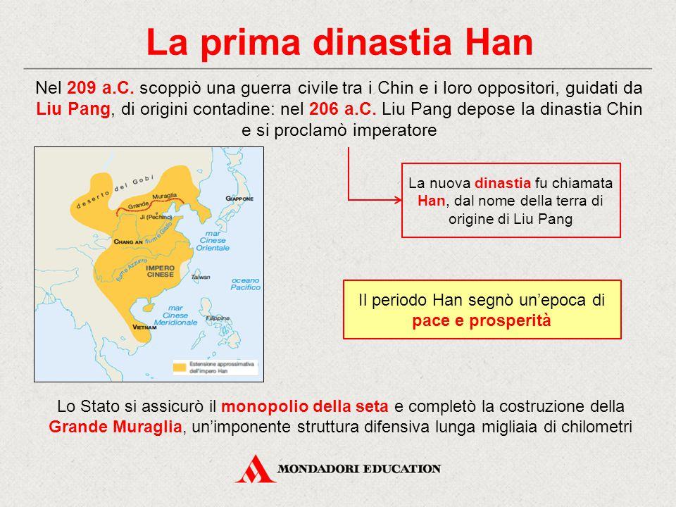 La seconda dinastia Han Dopo una fase di instabilità (9-23 d.C.), prese avvio la seconda dinastia Han, che ebbe fine nel 220 d.C.