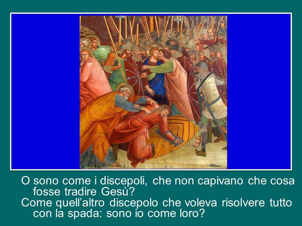 Abbiamo sentito altri nomi: i discepoli che non capivano niente, che si addormentavano mentre il Signore soffriva.