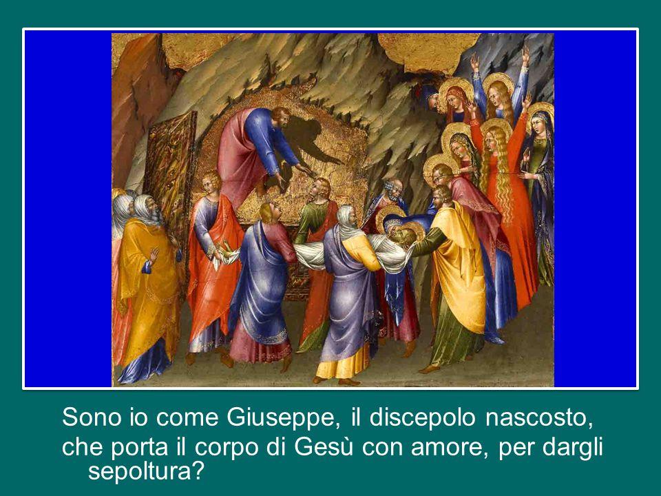 Sono io come quelle donne coraggiose, e come la Mamma di Gesù, che erano lì, soffrivano in silenzio?