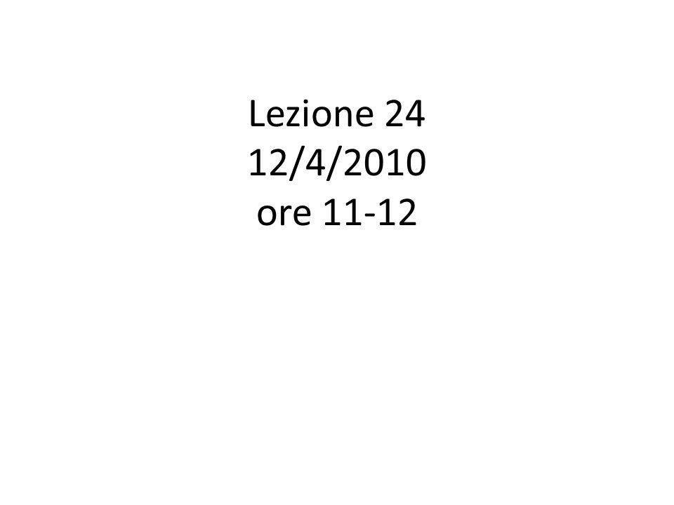 Calendario Lez.30: Ven. 23/4 Lez. 31: Lun. 26/4 Lez.