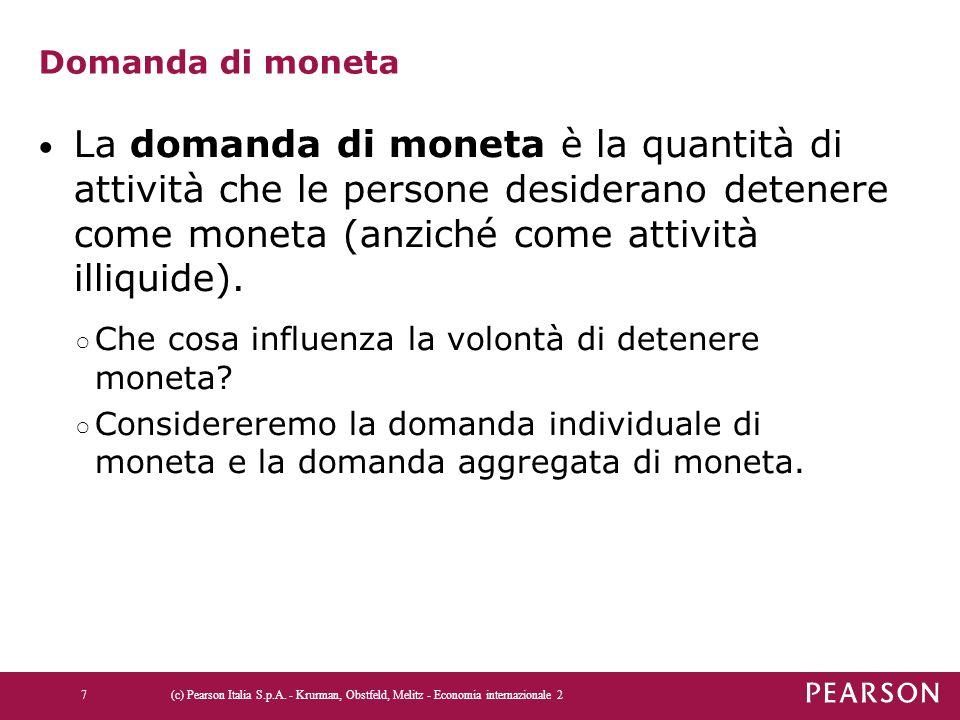 Figura 4.3 La determinazione del tasso di interesse di equilibrio (c) Pearson Italia S.p.A.