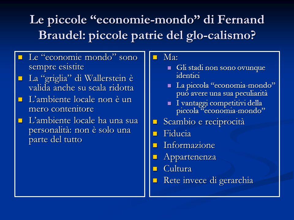 """Le piccole """"economie-mondo"""" di Fernand Braudel: piccole patrie del glo-calismo? Le """"economie mondo"""" sono sempre esistite Le """"economie mondo"""" sono semp"""