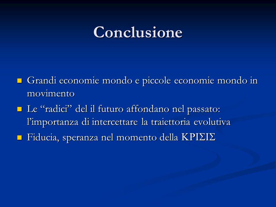 """Conclusione Grandi economie mondo e piccole economie mondo in movimento Grandi economie mondo e piccole economie mondo in movimento Le """"radici"""" del il"""