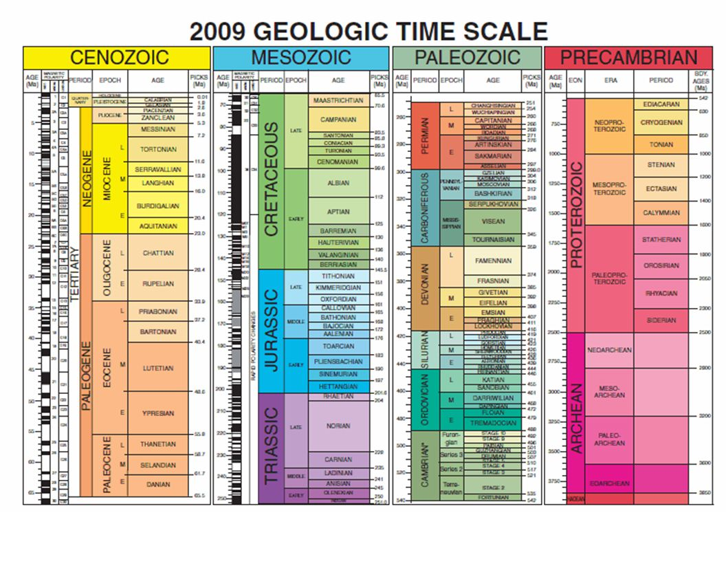 Stima dell ' ' et à à delle rocce e e correlazioni 1) Misure relative: biostratigrafia, magnetostratigrafia, stratigrafia isotopica, astrostratigrafia.