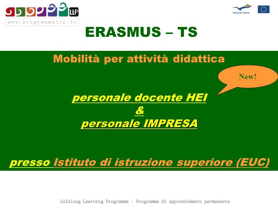 - Periodo eleggibile - Attività decentrate ERASMUS - Periodo eleggibile - SM-studio SM-placement TS Staff Training New.