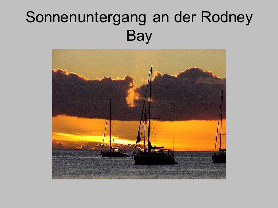 Sonnenuntergang an der Rodney Bay