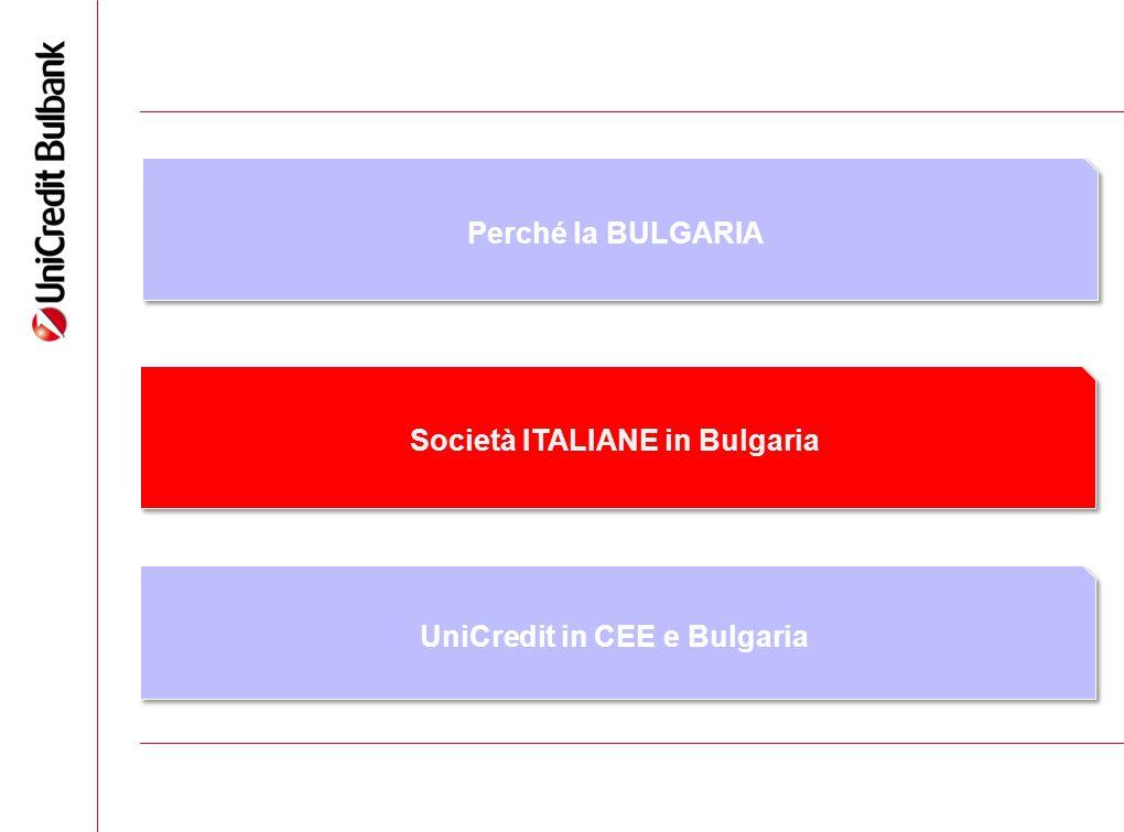6 Perché la BULGARIA Società ITALIANE in Bulgaria UniCredit in CEE e Bulgaria
