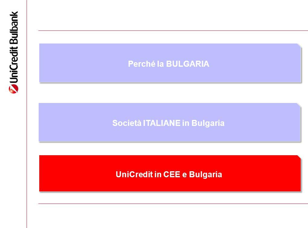 9 Perché la BULGARIA Società ITALIANE in Bulgaria UniCredit in CEE e Bulgaria