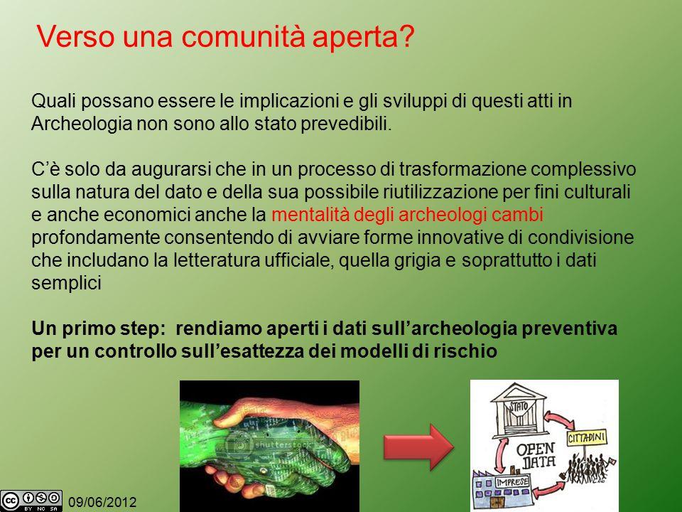 09/06/2012 Verso una comunità aperta.