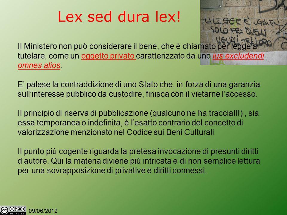 09/06/2012 Lex sed dura lex.