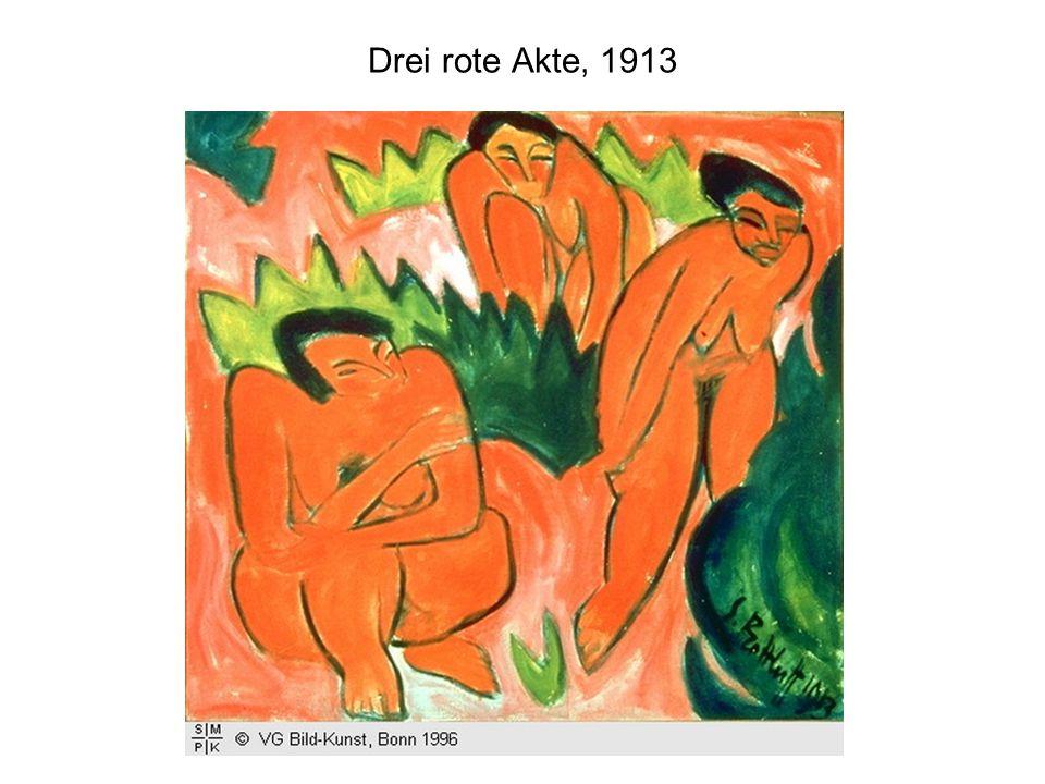 Drei rote Akte, 1913