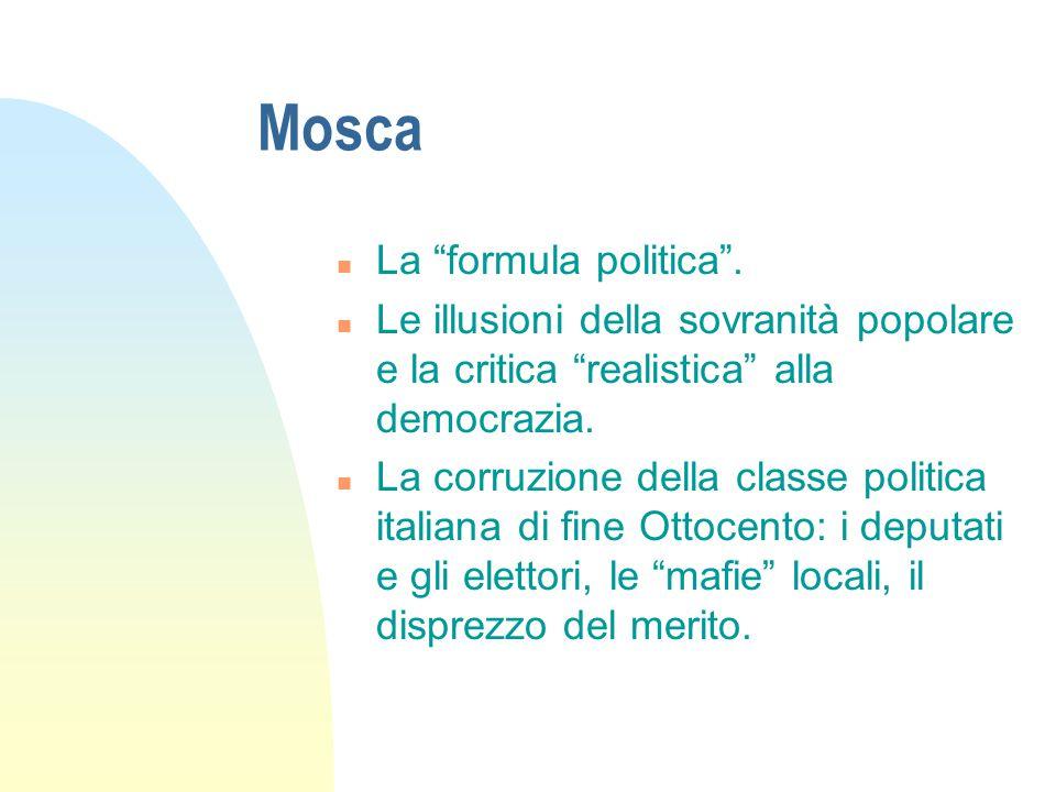 Mosca n La formula politica .