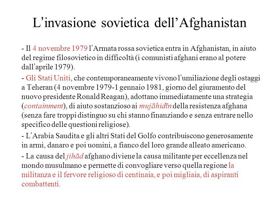 L'invasione sovietica dell'Afghanistan - Il 4 novembre 1979 l'Armata rossa sovietica entra in Afghanistan, in aiuto del regime filosovietico in difficoltà (i comunisti afghani erano al potere dall'aprile 1979).